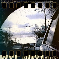 Rearview Mirror (Clayton Perry Photoworks) Tags: street reflection cars vancouver reflections mirror cellphone hero rearview android htc