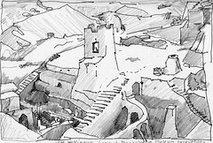 Ancient Babylon144 (artbwf) Tags: pencil ink landscape c babylon nippur