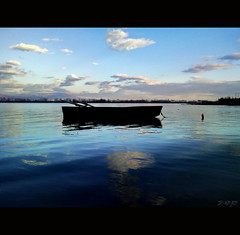 Kerkini with my Omnia....... (Zopidis Lefteris) Tags: sunset sky lake reflection water boat afternoon dusk hellas greece macedonia fishingboat smack allrightsreserved serres seres hellenic kerkini              photographerzopidislefteris     allphotosarecopyrightedbyzopidislefteris  copyright