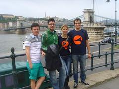 Italians at the Danube's Chain Bridge