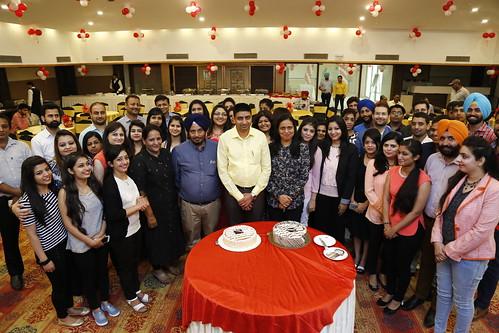 Company's Anniversary Celebration at Hotel Mountview Chandigarh