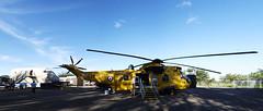 XZ592 Sea King, Kinloss stitched pano (wwshack) Tags: scotland kinloss moray morayvia seaking raf raflossiemouth royalairforce rescue xz592