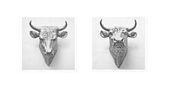 silver bull (Splitti68) Tags: stier bull silber silver quadrat square rahmen tier tierkopf perspektive angle kunst art splitti splittstser splitti68 splittstoesser schwarzweis black white