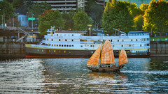 Legacy Times Two (ahockley) Tags: bodiesofwater rivers willametteriver boat oregon portland sailboat ship
