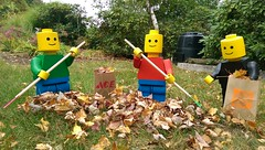 IMAG1034 (defarijf) Tags: • silhouette sitting skill standing symbol wood wooden work lego technic woody rouge visage portrait legos people man blue green field fence outdoor yard red yellow black ace home leaves autumn homedepot hardware acehardwarestore woodenlego