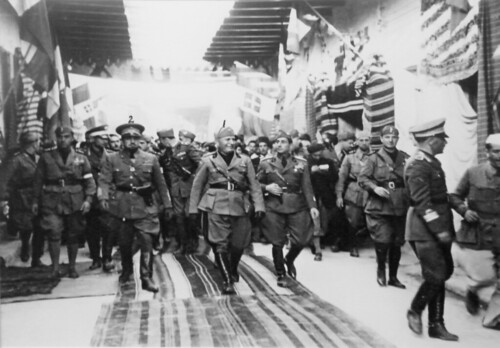 Mussolini and his Staff Officers