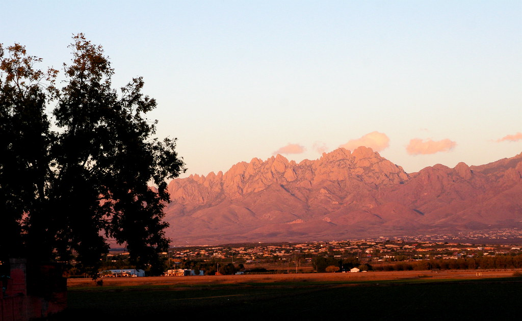 Las Cruces at foot of Organ Mountains