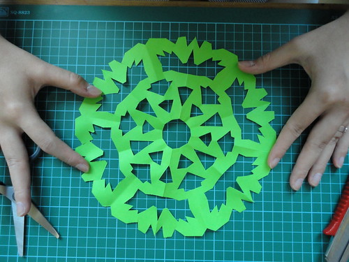 12 Paper Snowflakes