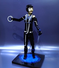 "Quorra from ""Tron Legacy"" (Ochre Jelly) Tags: movie lego olivia wilde disk tron disc legacy flynn clu oliviawilde lightcycle recognizer quorra"