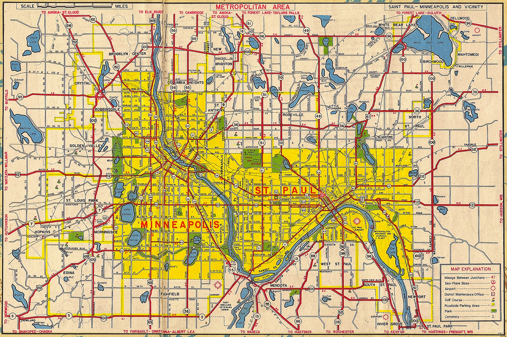Twin Cities 1949 Map