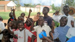 Orphans at the Uganda Independence Day (dreamofachild) Tags: poverty children village african poor orphan orphanage uganda humanitarian villagers eastafrica pader ugandan northernuganda kitgum humanitarianaid aidsorphans waraffected childcharity lminews