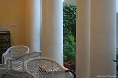 cane (emma2thomas) Tags: india cane architecture buildings tn chairs pillars historicalbuildings pondicherry alliancefrancaisepondichery