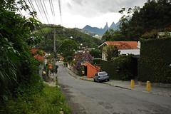 der Berg hinauf zum Hostel in Teresópolis