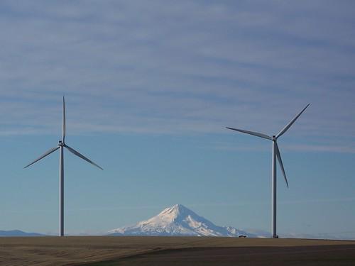 Biglow Canyon Wind Farm and Mt Hood