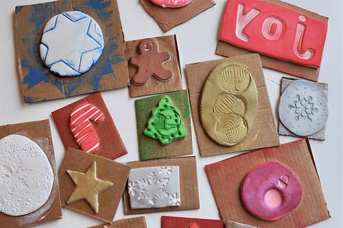 Handmade Holiday Stamps