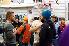 2nd Annual Holiday Party: In Da Shop (Hugger Industries) Tags: holidayparty bikehugger texturadesign elliottbaybicycles davidsonhandbuiltframes