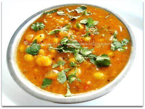 Fresh Lilva beans sambar