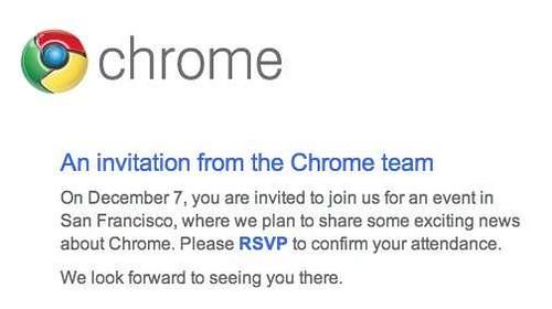 Google Chrome invite