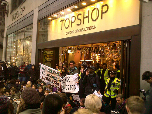 TOPSHOP flagship store blockage