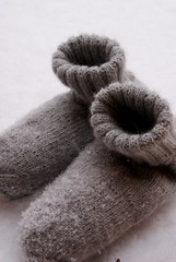 Lovely socks for winter... (SandraStJu) Tags: winter snow cold wool socks grey knitting handmade cosy