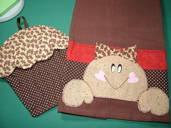 Gingerbread towel and pot holder