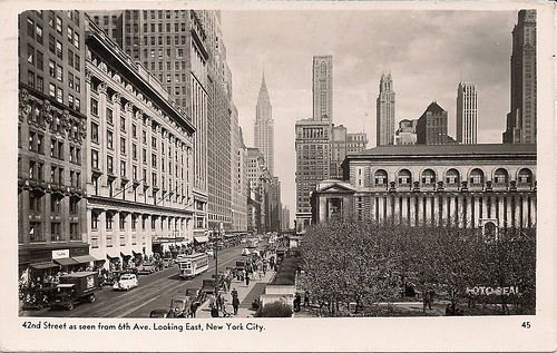 1947 42nd Street at 6th Ave., NYC Postcard (Front)