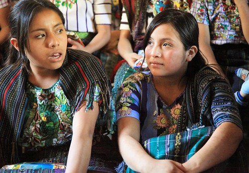 Tz'utuhil Maya girls in Panabaj, Guatemala