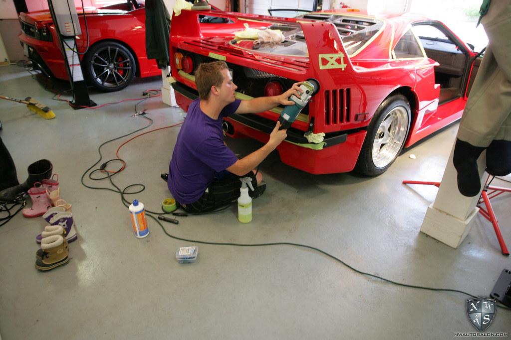 Seattle Auto Detailing Ferrari F40 NWAS naitovephoto