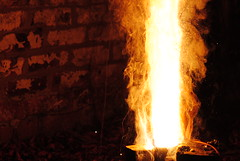 Manganese oxide thermite reaction part 3 (electro_n1k) Tags: speed garden fire frozen back nikon flame chemistry shutter pyro chemicals aluminium pyrotechnics copperoxide 55200mm thermite d3000 manganeseoxide