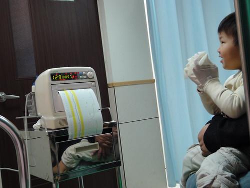 早上產檢測宮縮
