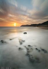 Sunset (Carlos J. Teruel) Tags: longexposure sunset espaa sol atardecer mar nikon paisaje murcia nubes reflejo cartagena 2010 d300 calblanque tokina1116 xaviersam singhraynd3revgrad leebigstopper