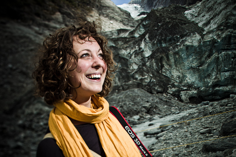 Sarah Danaher on Franz Josef Glacier