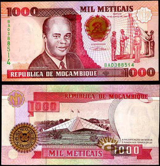 1000 Meticias Mozambik 1991, P135