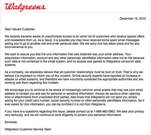 Walgreens Info