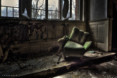 lazy chair ([AndreasS]) Tags: old windows urban green history texture abandoned canon hospital germany lost eos chair peeling paint decay grunge neglected location patient dirt sofa ill lazy forgotten sit trespass ddr 5d inside sanatorium russian relaxed exploration sick desolate asylum derelict hdr decayed krankenhaus dereliction hdri mental mii comfy sykehus urbex sted mark2 teupitz forlatt psyciatric mentalsykehus photoxploring
