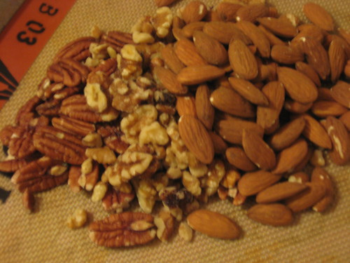 pecans, walnuts, almonds