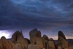 storm (Eric 5D Mark III) Tags: california longexposure cloud storm rock stone night canon landscape nationalpark desert joshuatree ground midnight thunder whitetank ef70200mmf28lisusm campgroun eos5dmarkii