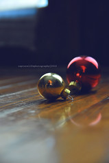 Getting into the spirit. (rachel.plowman) Tags: christmas decorations red gold ornaments