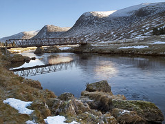 Glen Lyon (tricycledteenager) Tags: bridge winter snow mountains landscape frost perthshire boulders glenlyon riverlyon