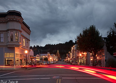 Down Town Ferndale California, Xmas lights (David Safier - redwoodimage) Tags: california county ca xmas sunset david tree dave clouds zeiss wonderful magazine photography lights this town is photo humboldt foto slow image photos sony awesome victorian picture pic photograph stunning sutter redwood 28 alpha arcata 35 incredible issue humboldtcounty marvelous ferndale eureka  unbelievable chrismas shocking fascinating surprising fotografa featured 2470mm  prodigious a850 safier davidsafier photographybb redwoodimage safierphotography