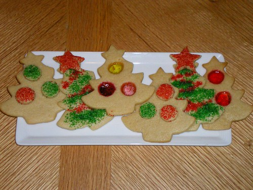 Stained Glass Cookie Trees