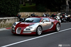 Bugatti Veyron Centenaire Edition (Achille Varzi) (Raphal Belly) Tags: red car french photography eos riviera photographie w 4 montecarlo monaco belly exotic chrome passion 164 16 carlo monte raphael edition bugatti achille rb spotting eb w16 centenaire supercars veyron raphal centenary 500d chromed varzi