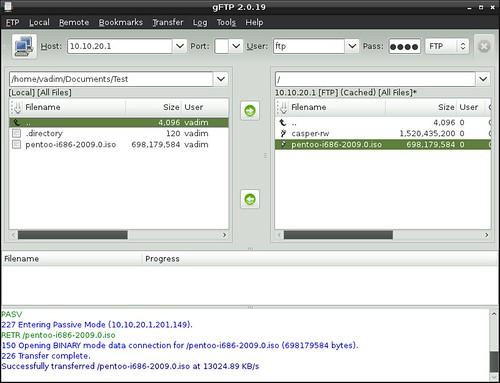 Vadim Plessky's Blog: OpenWrt USB Disk FAT32 - ftp transfer via gFTP