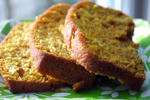 Plated Pumpkin Bread