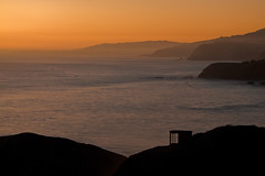 Sunset Layers (Ibrahim Almulhim ) Tags: sanfrancisco california ca orange usa black beach colors flickr layers canonef2470mmf28lusm  canoneos50d    almulhim ibrahimalmulhim rodeocoves