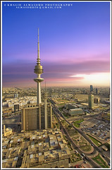 The Liberation Tower - Kuwait (khalid almasoud) Tags: tower architecture canon observation eos high all photographer  platform structure rights kuwait liberation meters khalid reserved  tallest telecommunications 308   50d  almasoud flickraward