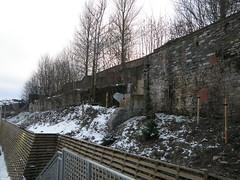 Behind Sainsbury's (cessna152towser) Tags: mill ruin hawick textilemill