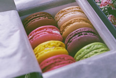 macarons (pearled) Tags: paris 35mm french biscuits laduree bakedgoods macarons 35mmslr ladureemacarons