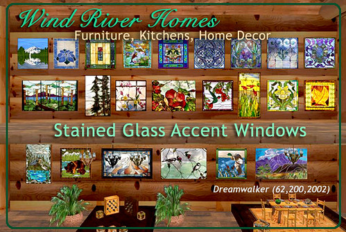 Stained Glass Accent Windows by Teal Freenote