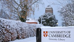 Snow @ UL (Sir Cam) Tags: uk cambridge england snow tower university library ul universitylibrary sircam